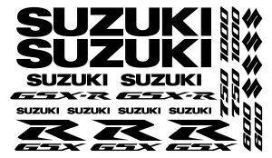 Suzuki GSX-R Set 3 einfarbig - Motorrad Sponsoren Aufkleber