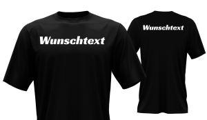 T-Shirt mit Wunschtext