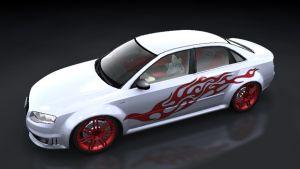 Auto Folien - Racing Flame