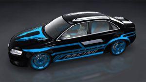 Autoaufkleber - Blue Racing Special