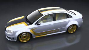 Autoaufkleber - Orange Racing Design