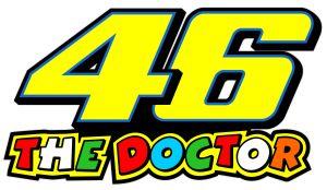 Valentino Rossi The Doctor 46 Blau - Motorrad Aufkleber