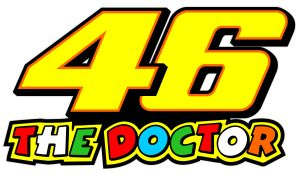 Valentino Rossi The Doctor 46 Orange - Motorrad Aufkleber