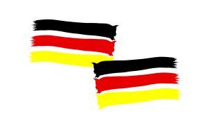 Deutschland Fahne 2er Set - WM Aufkleber