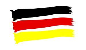 Deutschland Fahne - WM Aufkleber